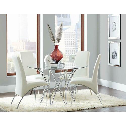 Ophelia Contemporary White Dining Chair