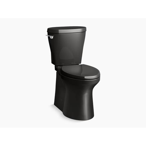 Kohler - Black Black Betello(tm) Comfort Height Two-piece Elongated 1.28 Gpf Toilet Skirted Trapway, Revolution 360 Swirl Flushing Technology and Left-hand Trip Lever, Seat Not Included
