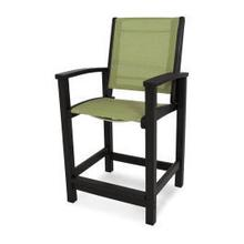View Product - Coastal Counter Chair in Black / Kiwi Sling