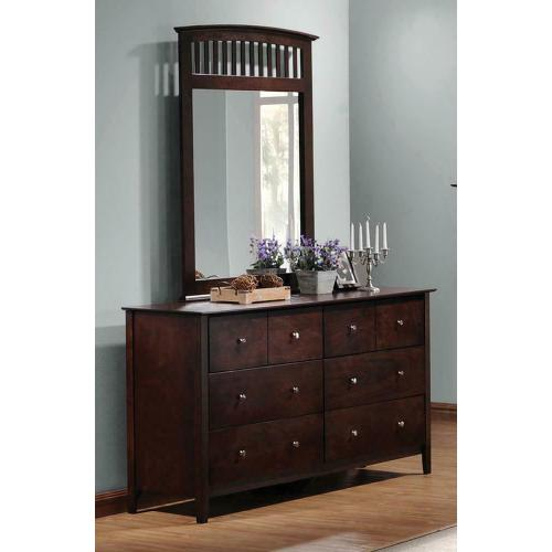 Tia Cappuccino Six-drawer Dresser