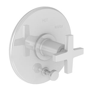 White Balanced Pressure Tub & Shower Diverter Plate with Handle. Less Showerhead, arm and flange.