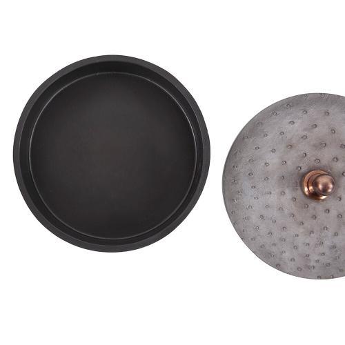 Howard Elliott - Round Faux Ostrich Skin Decorative Box, Large