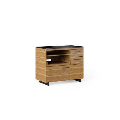 BDI Furniture - Sequel 20 6117 Multifunction Cabinet in Natural Walnut Black