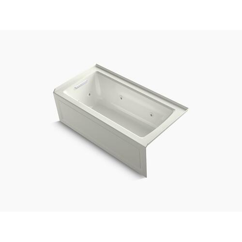 "Dune 60"" X 30"" Three-side Integral Flange Whirlpool Bath With Left-hand Drain, Heater, and Comfort Depth Design"