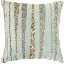 "Luminescence E1057 Celadon 18"" X 18"" Throw Pillow"