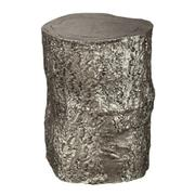 2-7755 Antique Nickel Tree Trunk Stool Product Image