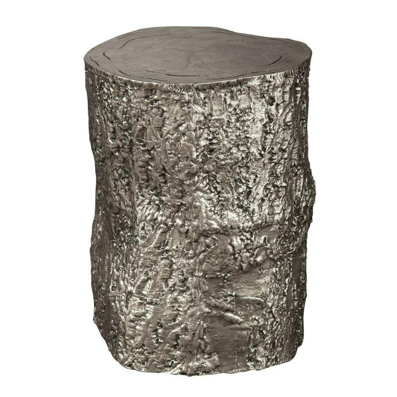 2-7755 Antique Nickel Tree Trunk Stool