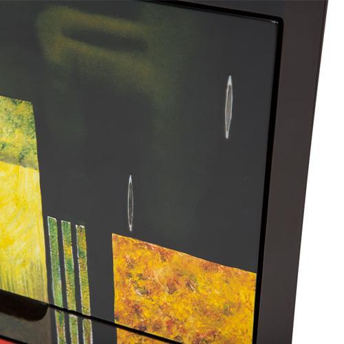 V Shape Storage Chest, 3 Drawers