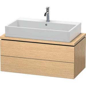 Vanity Unit For Console Compact, Brushed Oak (real Wood Veneer)