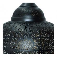 See Details - Palace Matki Tikoni Pendant lamp/Iron+textile cable/Black, gold inside/16.5x16.5