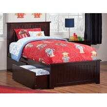 Nantucket Twin Bed with Matching Foot Board with 2 Urban Bed Drawers in Espresso