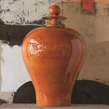 See Details - Happy Temple Jar-Orange-Tall