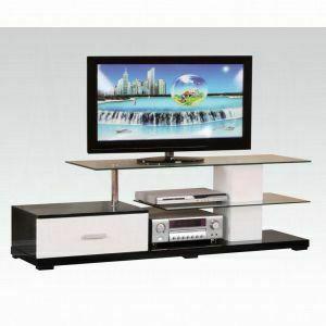 ACME Ivana TV Stand - 91140_KIT - White & Black