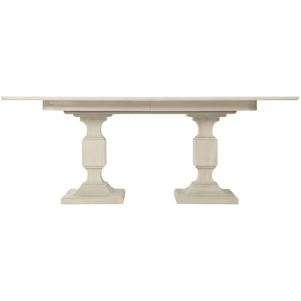 See Details - East Hampton Rectangular Dining Table in Cerused Linen (395)