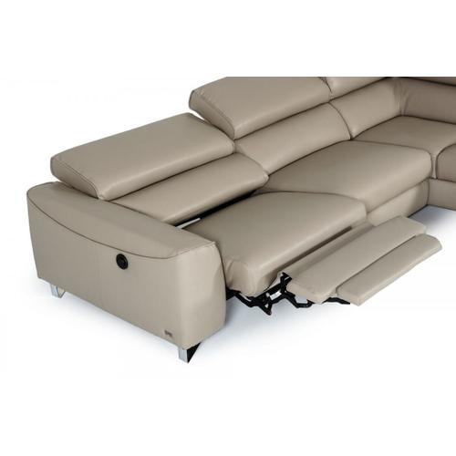 VIG Furniture - Divani Casa Versa - Modern Light Taupe Teco-Leather Right Facing Sectional Sofa with Recliner