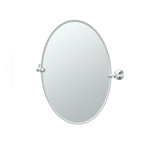 Charlotte Oval Mirror in Chrome