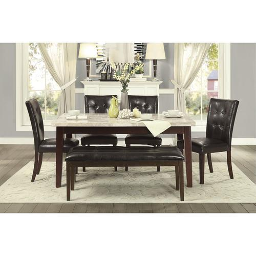Homelegance - Dining Table, Marble Top