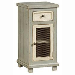 Small Chairside Chest - Antique Gray Finish