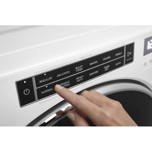 Whirlpool - 7.4 cu. ft. Front Load Electric Dryer with Steam Cycles White