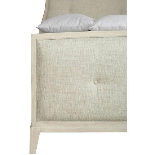 California King-Sized East Hampton Upholstered Bed in Cerused Linen (395)