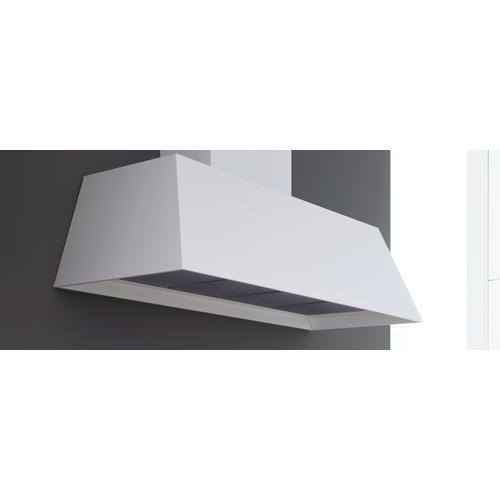 48'' Contemporary Canopy Hood, 1 motor 600 CFM Bianco Matt