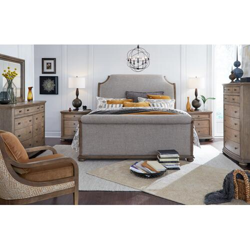 Camden Heights Upholstered Sleigh Bed, King 6/6