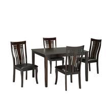 See Details - Fairmont 5pc Kitchen Table Set Cappuccino 36x48
