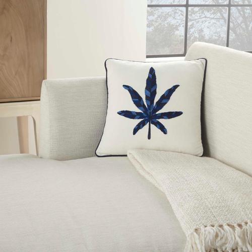 "Royal Palm Ns249 Indigo 16 ""x 16"" Throw Pillow"