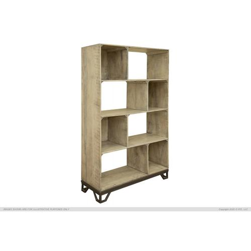 "70"" Bookcase, solid Wood w/ Iron base"
