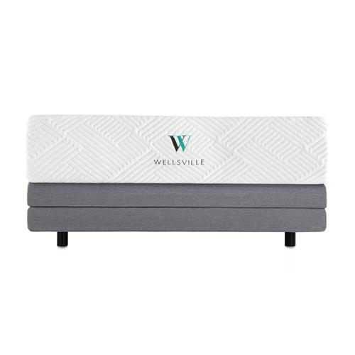 Wellsville 14 Inch Gel Foam Mattress Split Queen