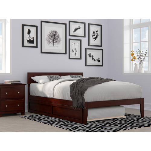 Atlantic Furniture - Boston Full Bed with Twin Trundle in Walnut