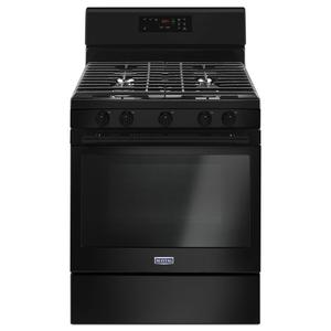 30-inch Wide Gas Range With 5th Oval Burner - 5.0 Cu. Ft. - BLACK