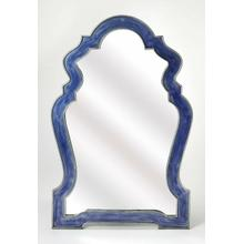 See Details - Having a mirror in any room is a great way to let the light bounce around, opening up the room, and allowing you to check you look -mirrors are essential accents. Take this one for example: Taking on an eye-catching arched silhouette, its frame is crafted from Iron and features a blue finished frame, outline in silver. Try it over your entryway console table, or bring it into the bathroom for a quick powder room pick-me-up.