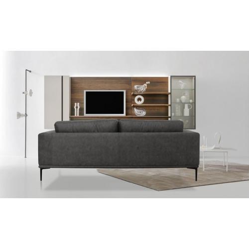 VIG Furniture - Divani Casa Jada - Modern Dark Grey Loveseat