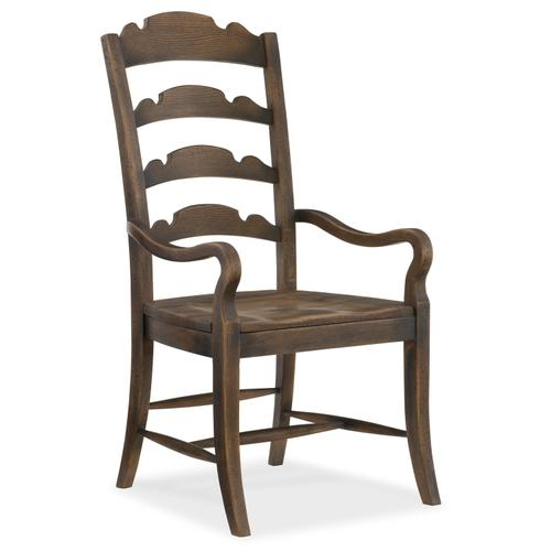 Hooker Furniture - Hill Country Twin Sisters Ladderback Arm Chair - 2 per carton/price ea