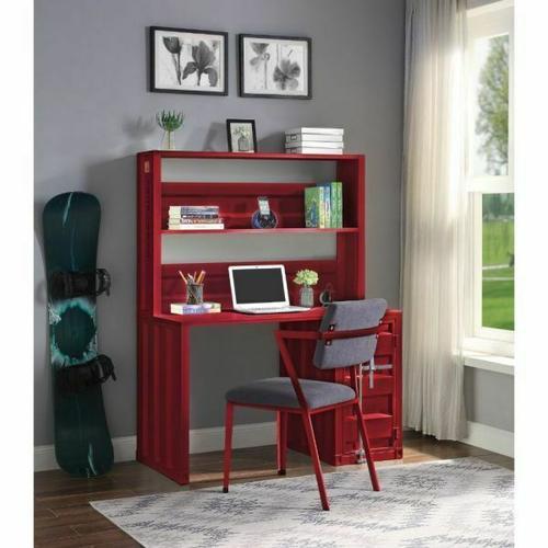 ACME Cargo Desk & Hutch - 37917 - Red