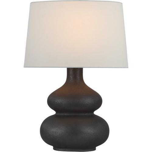 Visual Comfort - Chapman & Myers Lismore 24 inch 15.00 watt Stained Black Metallic Table Lamp Portable Light, Medium