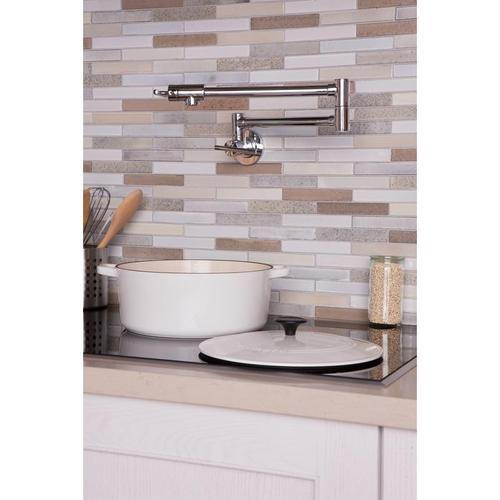 Elkay - Elkay Avado Wall Mount Single Hole Pot Filler Kitchen Faucet with Lever Handles Chrome