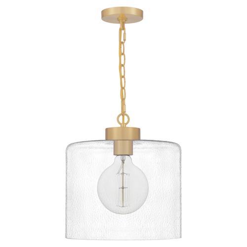 Quoizel - Abner Mini Pendant in Aged Brass