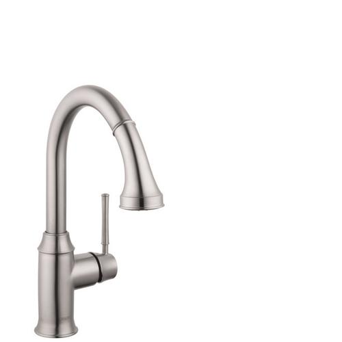 Steel Optic Prep Kitchen Faucet, 2-Spray Pull-Down, 1.75 GPM
