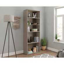 See Details - Tall 5-Shelf Bookcase in Silver Sycamore