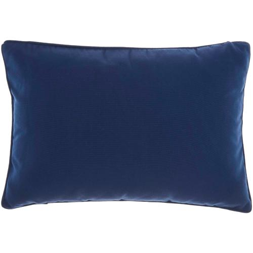 "Outdoor Pillows L9090 Navy 14"" X 20"" Throw Pillow"