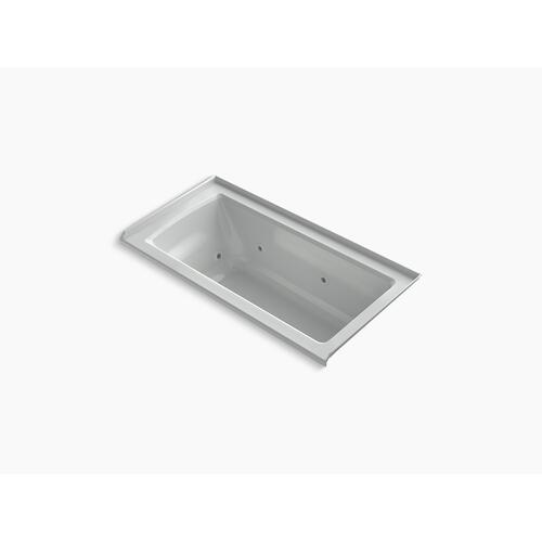 "Ice Grey 60"" X 30"" Three-side Integral Flange Whirlpool With Heater and Right-hand Drain"