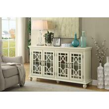See Details - Traditional Antique White Accent Cabinet