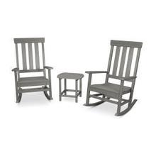 View Product - Prescott 3-Piece Porch Rocking Chair Set in Slate Grey
