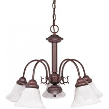 Ballerina - 5 Light Chandelier with Alabaster Glass - Old Bronze Finish