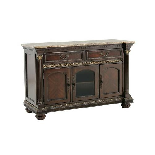 Homelegance - Server with Faux Marble Top