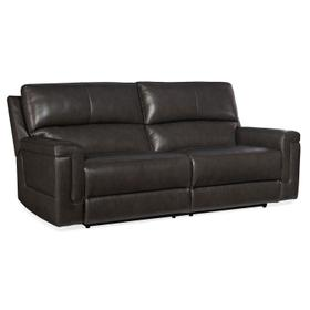 Living Room Gable Leather PWR 2 over 2 Sofa w/ PWR Headrest