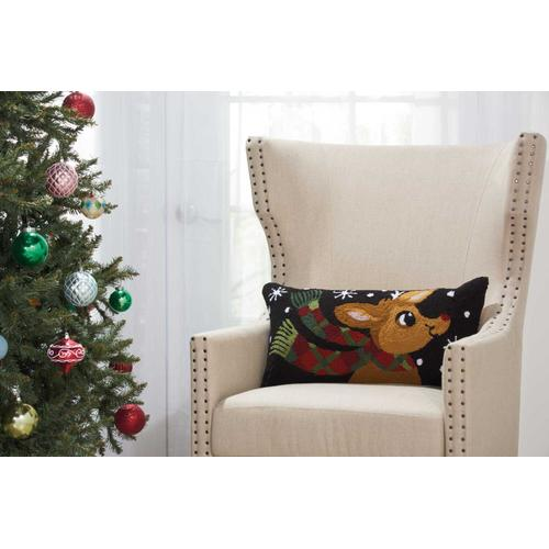 "Home for the Holiday Yx107 Multicolor 12"" X 24"" Throw Pillow"