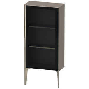 Semi-tall Cabinet With Mirror Door Floorstanding, Basalt Matte (decor)
